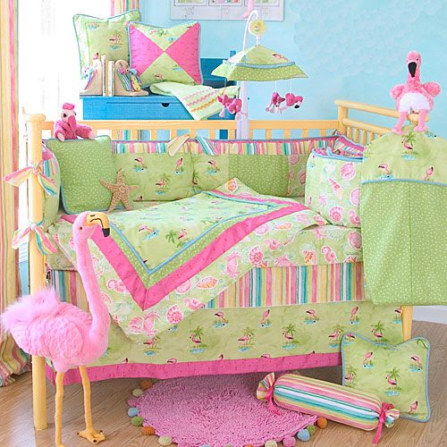Convey Your Little Girl S Personality Through Her Bedroom: Flamingo Paradise Baby Bedding