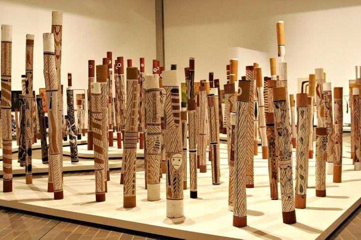 Aboriginal Memorial at National Gallery of Australia #Canberra #Australia #Australian