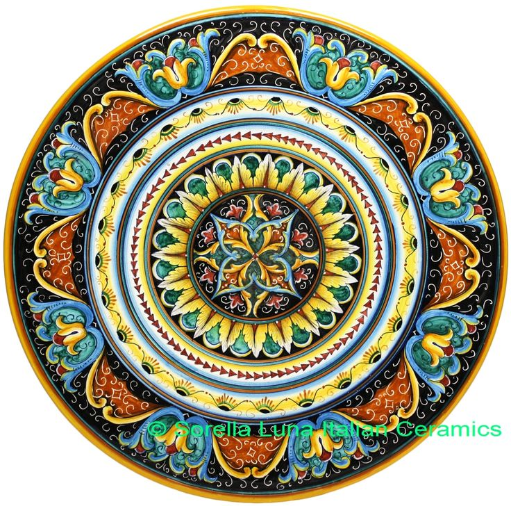 Italian Deruta Ceramic Majolica Plate 47cm Italian
