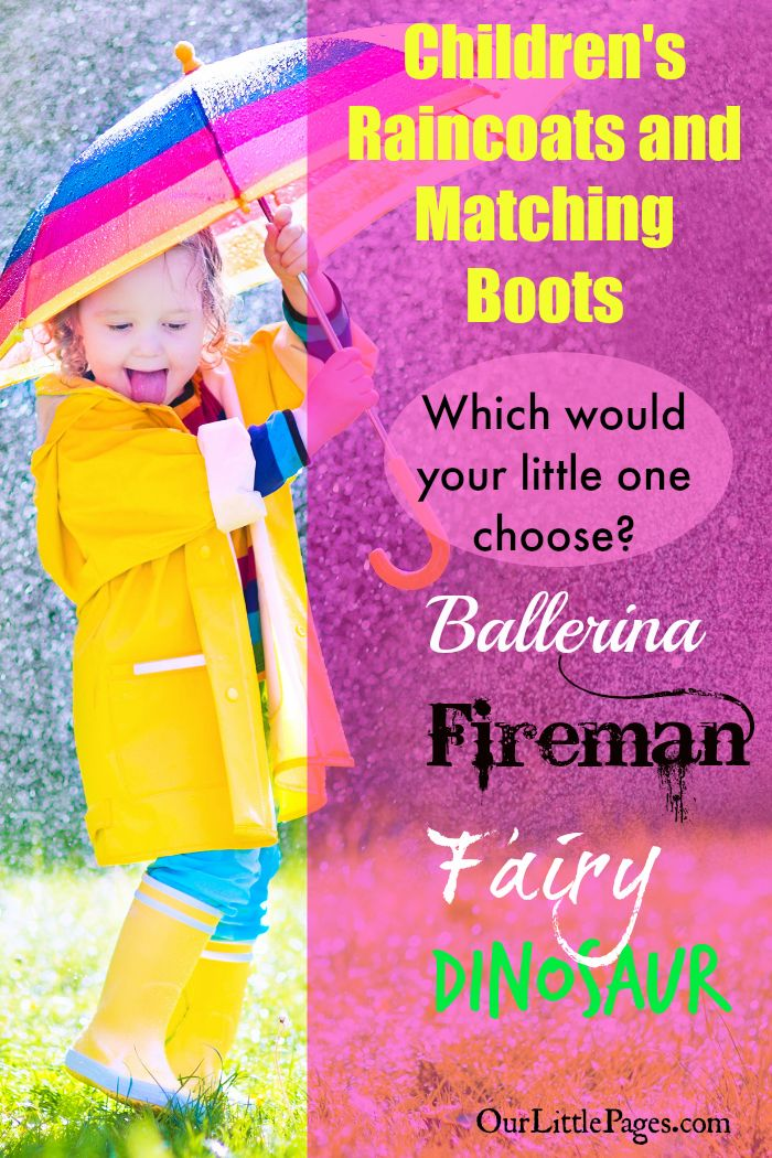 Children's Raincoats and Matching Boots - With so many choices in kids raincoat and matching boots....which will you choose for your little ones?