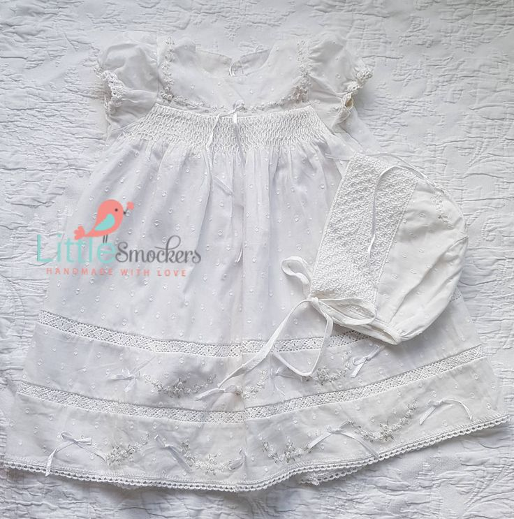 Gorgeous Hand smocked baptism/ take home dress - size 0-3 months by LittleSmock on Etsy