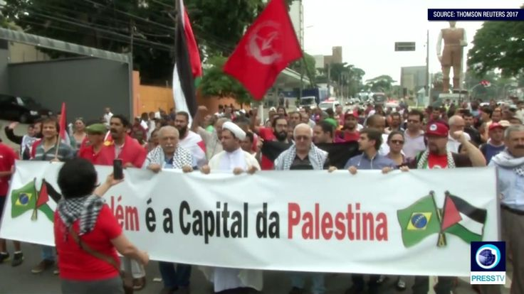 Brazil: Protesters show solidarity with Palestinians on Trump's al-Quds ...