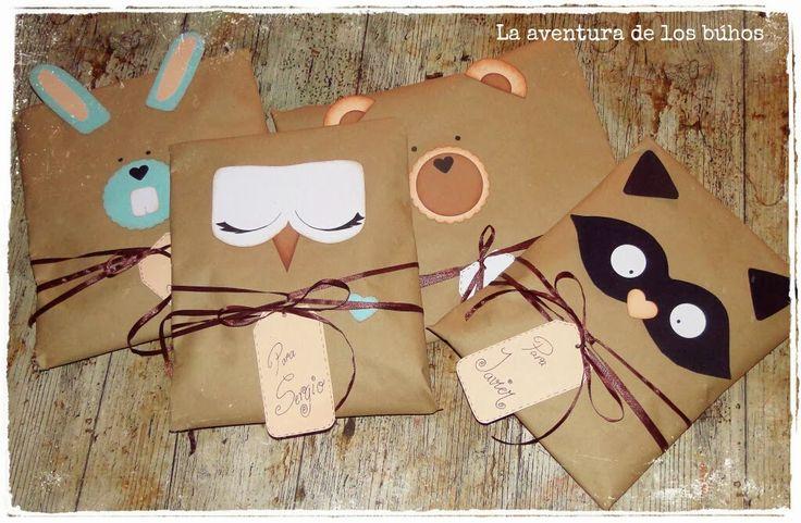 La aventura de los búhos: Envolver regalos infantiles
