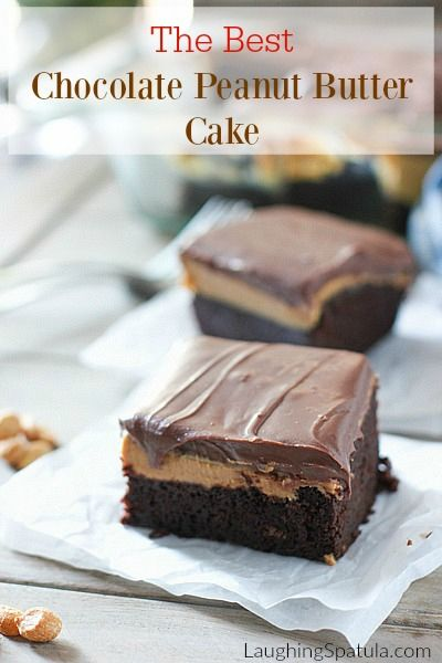 The Best Chocolate Peanut Butter Cake in the world! And also the easiest...let there be cake!