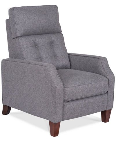Elora Fabric Pushback Recliner  HP living room furniture