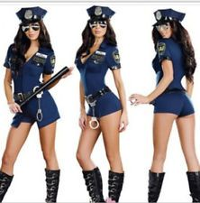 Sexy New Free Size Police Cop Uniform Fancy Dresses Halloween Costumes For Women