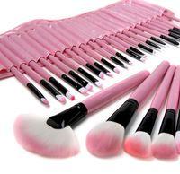 Nueva llegada de 32 piezas pincel de maquillaje Set 32pcs Brochas marca profesional de maquillaje cosméticos con la bolsa de Caja rosada bolsa