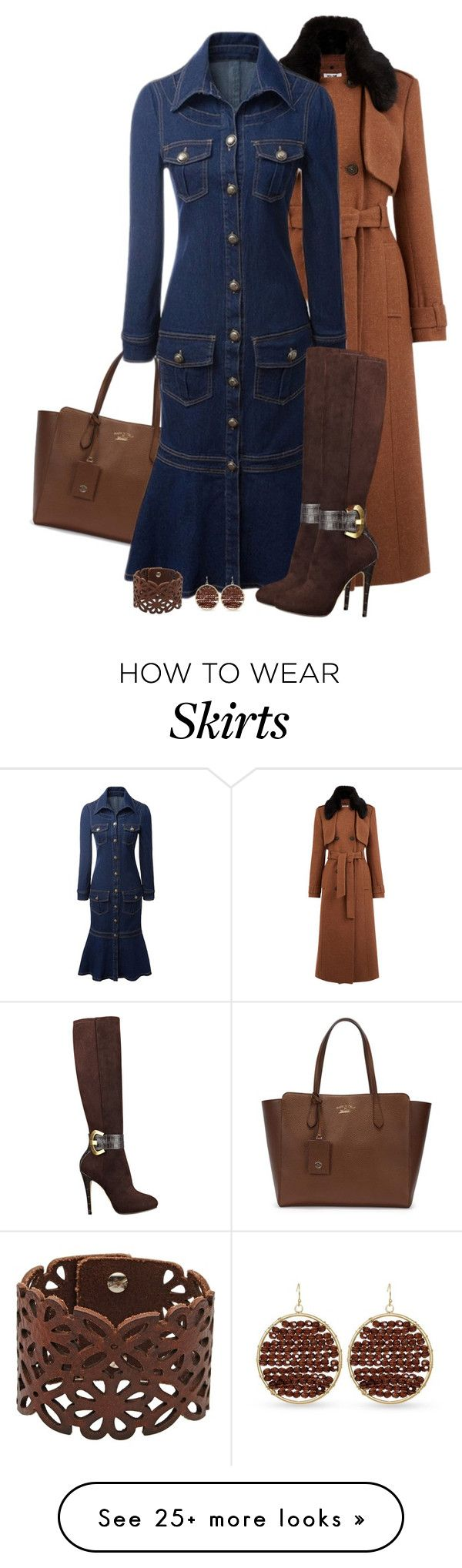 """""""Flounce denim dress"""" by kamkami on Polyvore featuring Gucci, Warehouse, GUESS, LIU•JO and Towne & Reese"""
