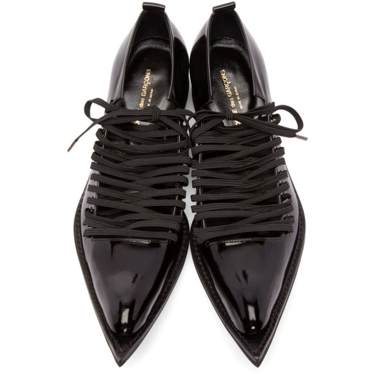 Comme des Garçons - Black Patent Leather Pointed Oxfords