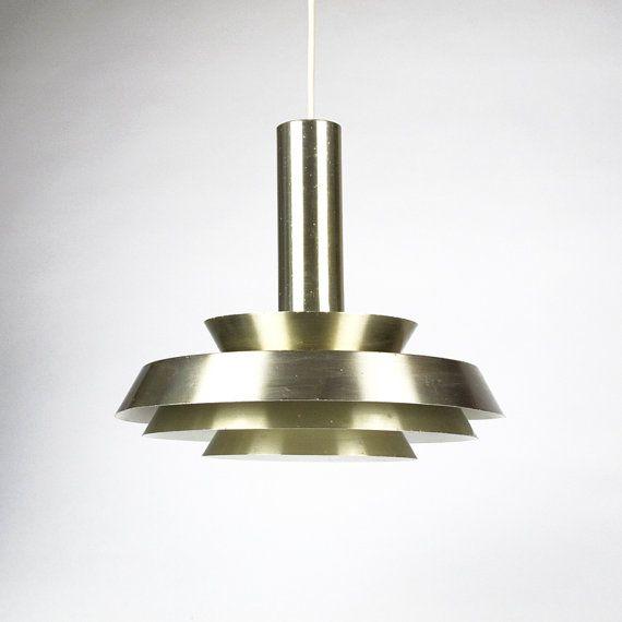 Danish Modern Style Hanging Lamp. Brass от ArqueologiaDomestica, €104.30