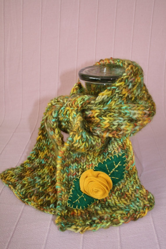 Handkerchief scarf by MadameBonneterie on Etsy, €15.00