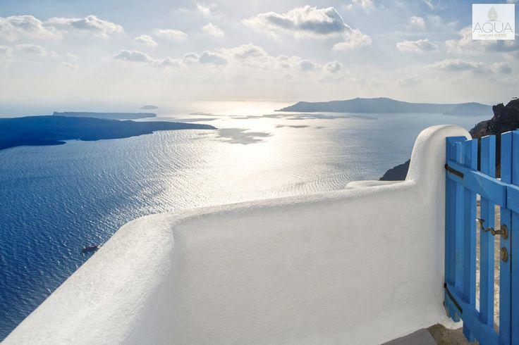 Breathtaking Aegean views from Aqua Luxury Suites! More at aquasuites.gr/hotel_gallery/