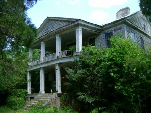 Laurelwood, as this 1845 plantation house is known, was rediscovered a few years ago amid a tangle of vines and wisteria. It's been abandoned since 1995. Eastover, South Carolina