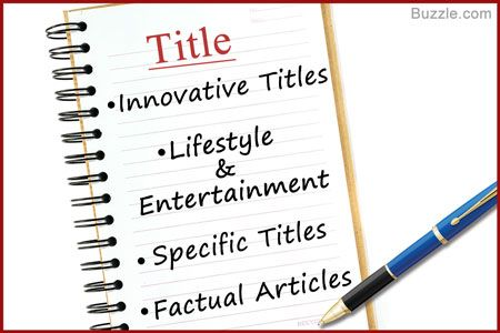 Article Writing Format - Title