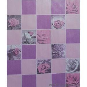 Tapet impermeabil Trandafiri roz-violet