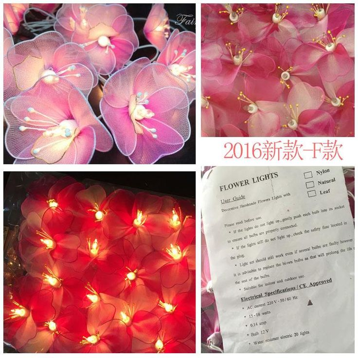 20Led Fairy Novelty Thai Style Fairy Flower Battery Operated String Lights 3M LED Decor For Party