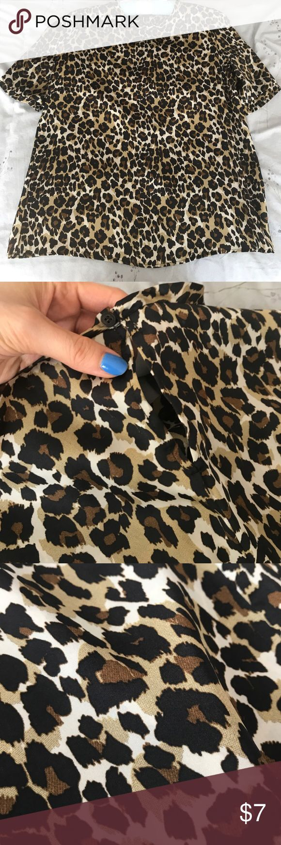Satin leopard top Satin leopard top in good condition Mango Tops Blouses