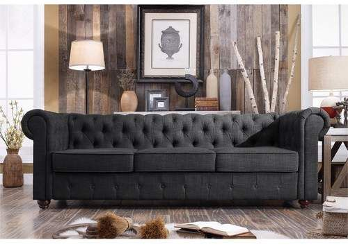 Love & so cheap! #sofa #ad #navy #livingroom #furniture #navysofa #gray