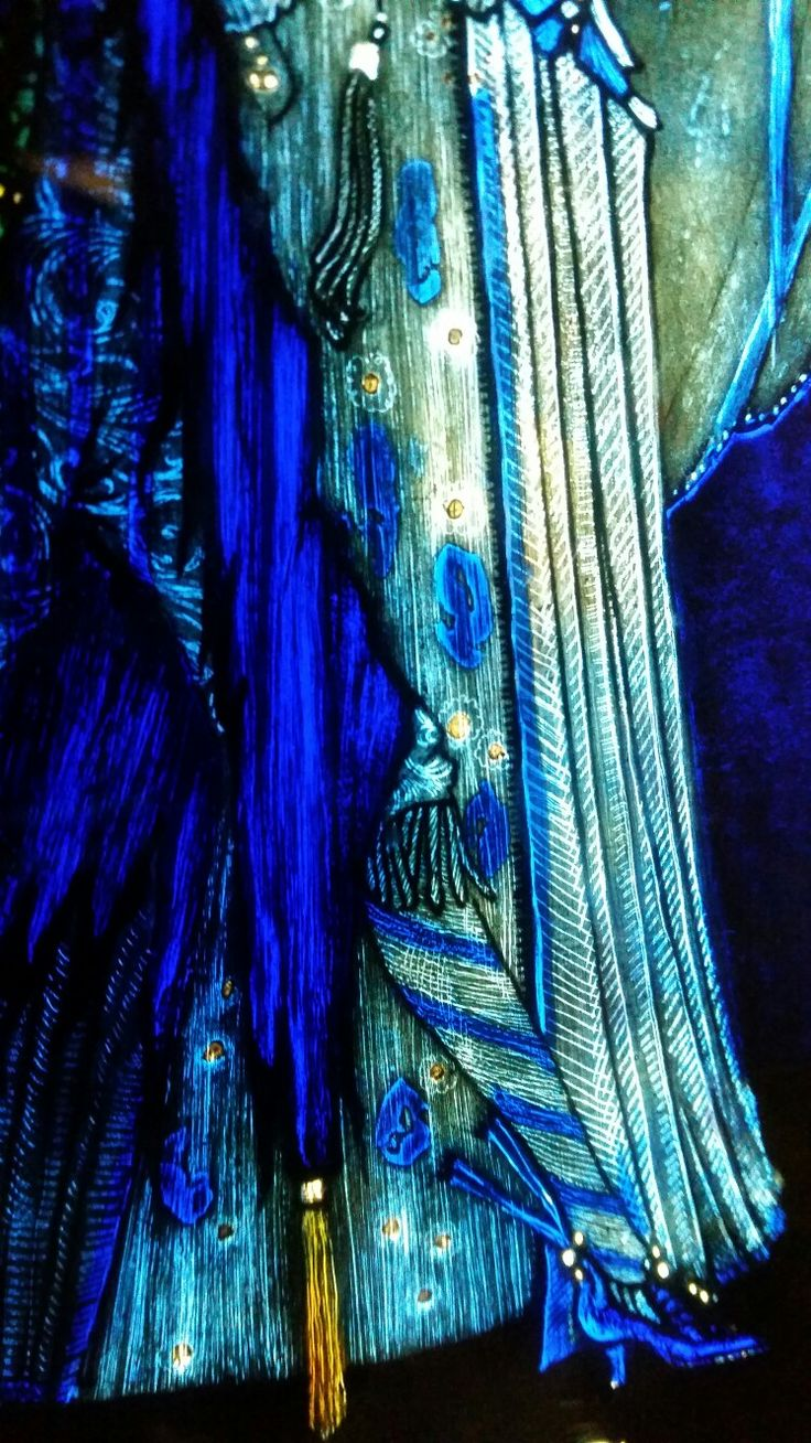 The Eve of St Agnes by Harry Clarke - Those tights are tight.