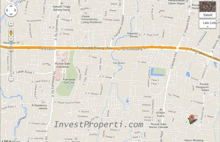 Peta Lokasi Apartemen The ForesQue Ragunan.