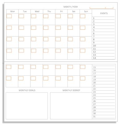 My Life All in One Place: Monthly PlanPack for the Midori Traveler's Notebook - now in landcape