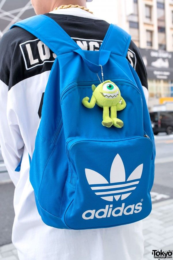 Blue Adidas Backpack
