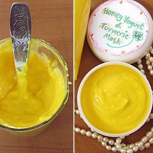 Honey Yogurt and Turmeric Mask