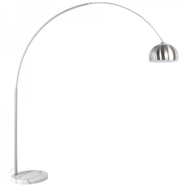 Booglamp Vloerlamp XXL Geborsteld Staal - DesignOnline24.nl