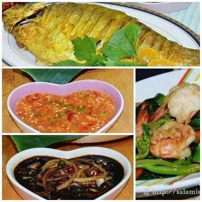 AMIE'S LITTLE KITCHEN: Ikan Lampam Panggang & Sayur Kailan Goreng Sos Tiram.