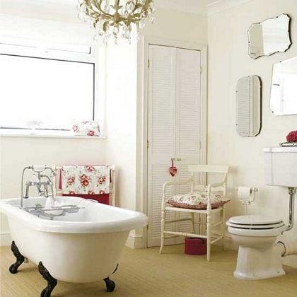 Baños de estilo vintage con espejos