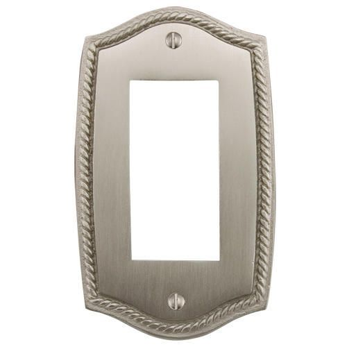 Georgian Design Solid Brass Paddle Switch/GFI Plate - Brushed Nickel