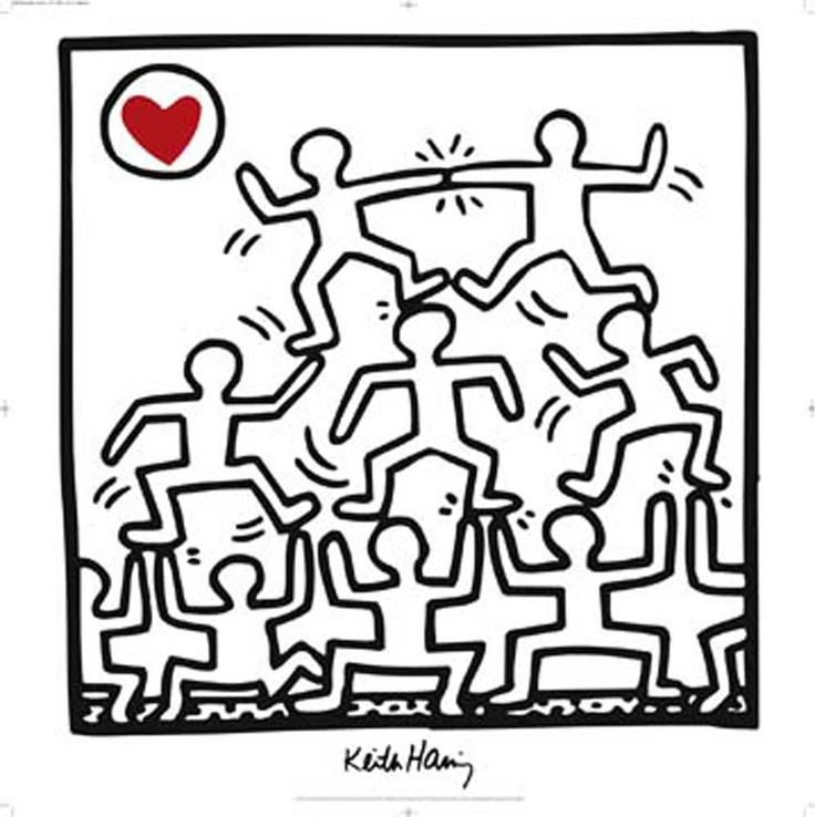 Keith haring art works coloring