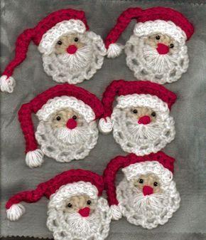 Tutorial di Babbo Natale all'uncinetto da appendere e non solo - Il blog italiano sullo Shabby Chic e non solo