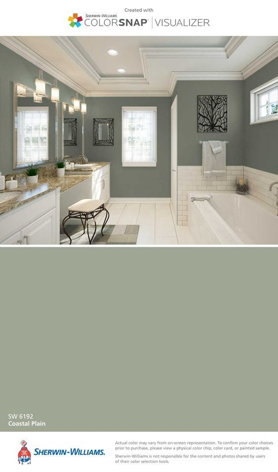 Coastal Plain by Sherwin-Williams is a great color for freshening up ...
