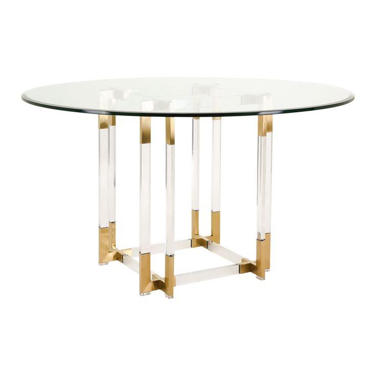 Shop Safavieh SFV2509A Couture Koryn Acrylic Dining Table