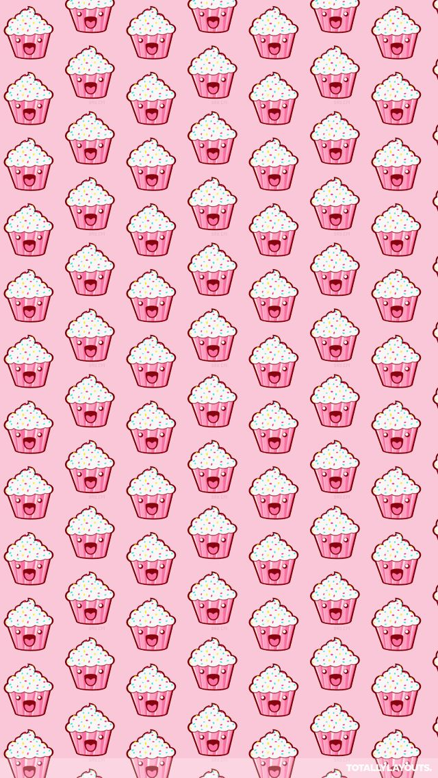 Kawaii Cupcake Wallpaper for iPhone 5S.