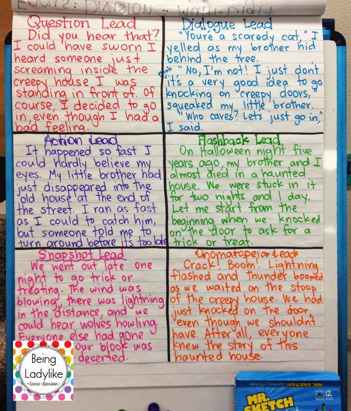 Haunted House Narrative/Expressive Writing...Beautiful Beginnings/Hooks.  This is the BEST and easiest way to help students immediately write much better hooks.  No more overused beginnings with this one!