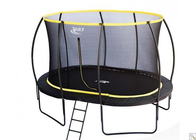 7 X 10ft Oval Telstar Orbit Trampoline And Enclosure Package With