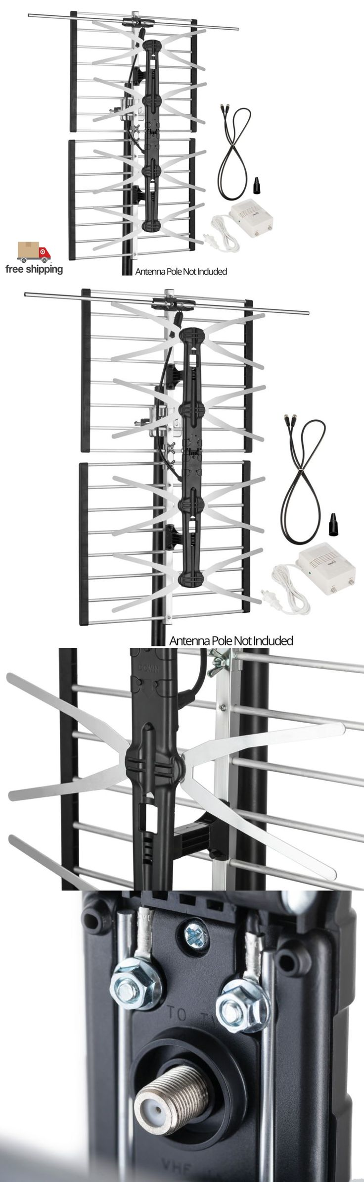 Antennas and Dishes: Digital Hdtv Amplified Tv Antenna Outdoor Attic Range 120 Miles Full Hd Vhf Uhf -> BUY IT NOW ONLY: $51.49 on eBay!
