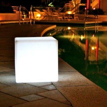Cube LED Indoor Outdoor Lamp, Smart & Green Outdoor Lighting | YLiving