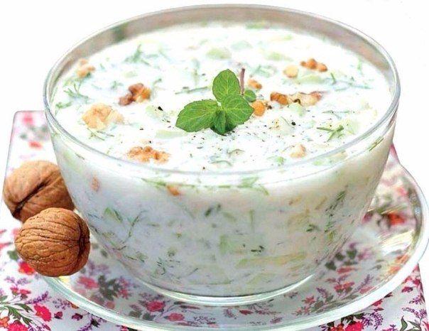 Холодный кефирный суп
