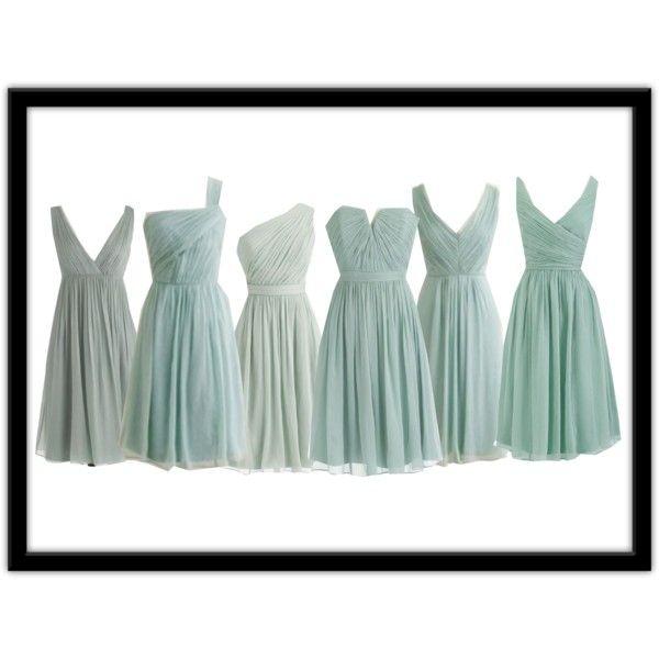 "Color for Usherette dresses? - ""J.Crew Dusty Shale Bridesmaids' Dresses"" by lovinglife776 on Polyvore"