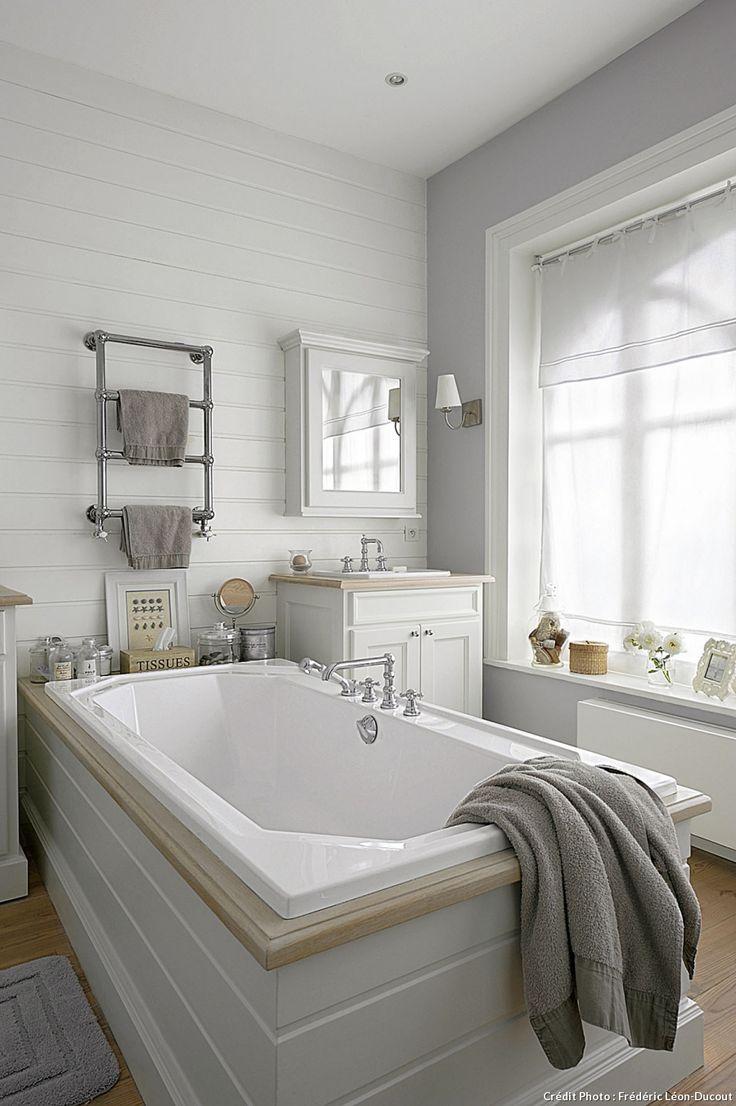 baignoire salle de bain baignoire salle deco chalet salle de bains ...