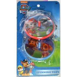 Add in these spinning tops 2 per pack./ Wally's Party Factory #paw #patrol #spinning #tops