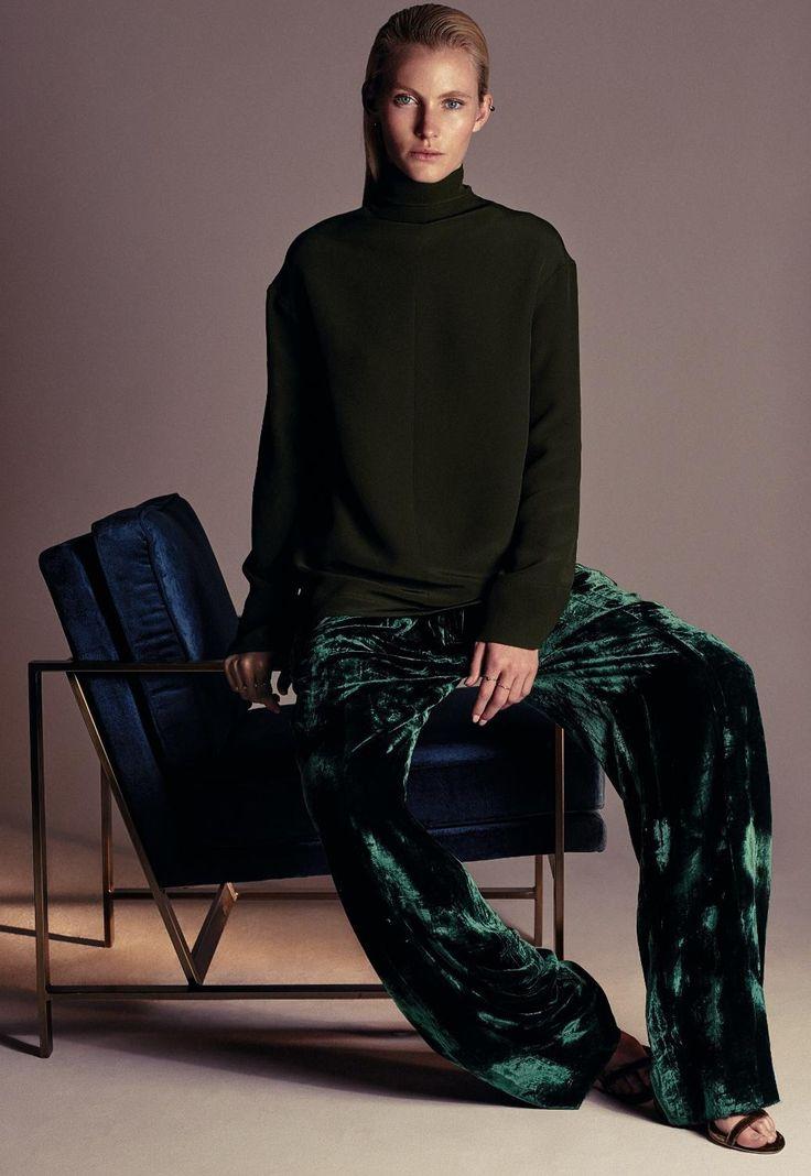 Winter Greens (Emily Baker, Elle Germany November 2016 by Joshua Jordan)