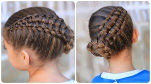 How to Create a Zipper Braid | Updo Hairstyles - Cute Girls Hairstyles | 5-Minute Hairstyle Video Tutorials