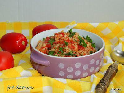 Moje Małe Czarowanie: Kasza pęczak zasmażana z pomidorami