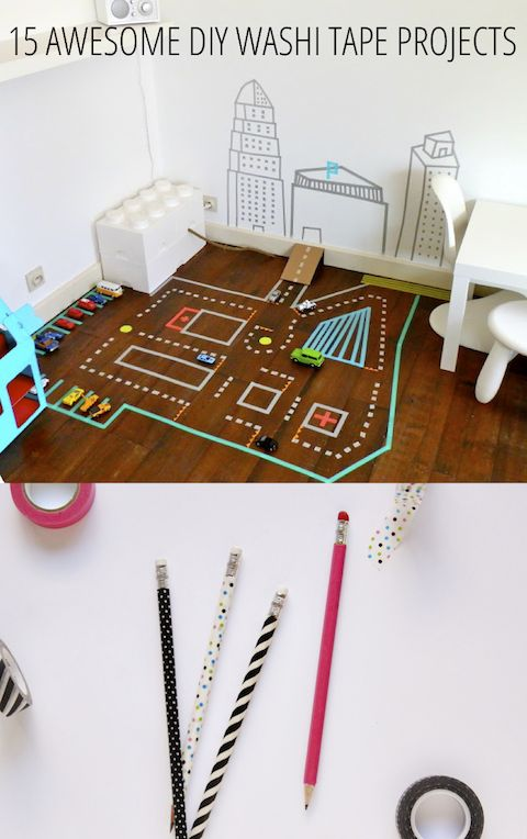 WASHI TAPE    http://www.babble.com/crafts-activities/15-awesome-diy-washi-tape-projects/#