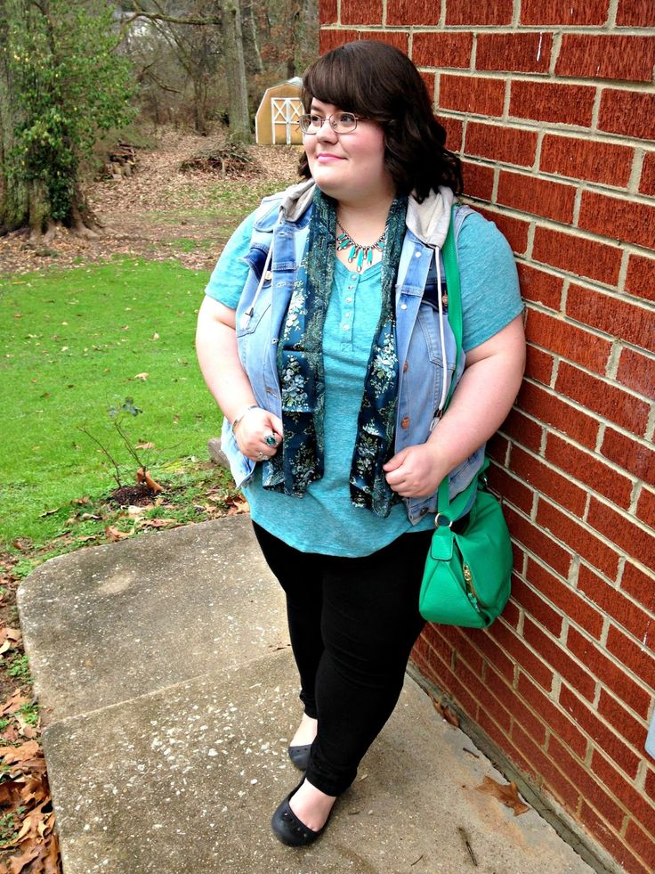 Unique Geek: Plus Size OOTD: Greens In Winter: