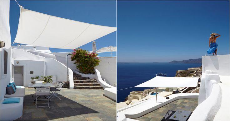"Check Villa ""Cave"" - Santorini, Greece ! You can rent it ! #luxury #villa #rent #holidays #greece #vacances #grece #alouer #aroomwithaview #sea #bedroom #decoration #swimmingpool #beautiful #sunset #luxuryvilla"